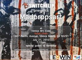 SwitchFlip & Madpropsart Venice Art Crawl at Hotel Erwin